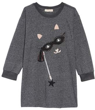 Truly Me Cat with the Mask T-Shirt Dress