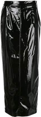 Maison Margiela high-shine long skirt