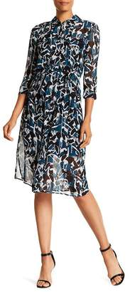 Ted Baker Crane 3\u002F4 Sleeve Shirtdress