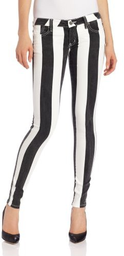 Frankie B. Women's My Bff Front Rise And Inseam Jegging in Black/White
