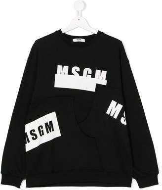MSGM Teen folded logo sweater