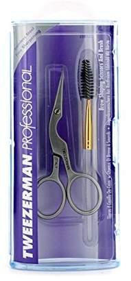 Tweezerman Professional Stainless Brow Shaping Scissors & Brush