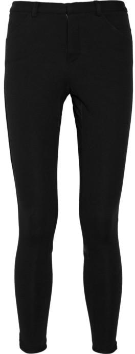 A.L.C. Leather-paneled jersey riding pants