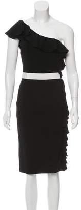 Giambattista Valli One-Shoulder Ruffled Dress