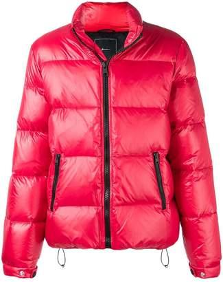 Paura zipped down padded jacket