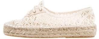 Diane von Furstenberg Crochet Espadrille Sneakers