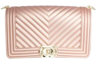 Missy Empire Missyempire Tiff Rose Gold Quilted Gold Buckle Bag