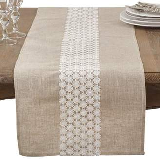 Blend of America One Allium Way Arvin Lace Country Cottage Linen Table Runner
