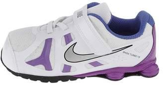 Nike Turbo Little Girls Running Shoes TDV Kids 525238-101 White Purple 6.5 M US Little Kid
