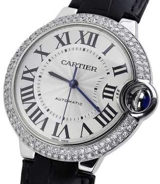 Cartier Ballon Bleu 42mm W69012Z4 Automatic Alligator Strap Watch