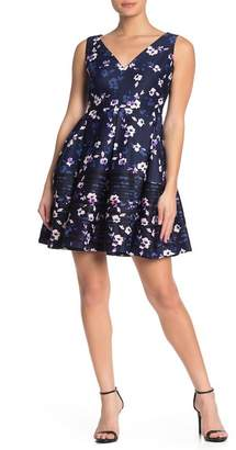 Taylor Floral Pocketed Fit & Flare Scuba Dress