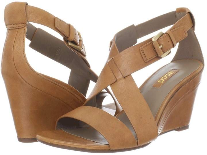 Ecco Ossima Wedge Sandal (Lion) - Footwear