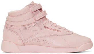 Reebok Classics Pink Freestyle High-Top Sneakers