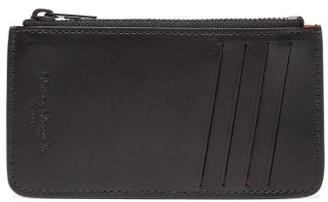 Maison Margiela Leather Card And Coin Purse - Mens - Black