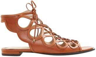 Stella Luna Brown Leather Sandals