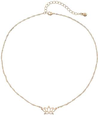 Lauren Conrad Lotus Flower Necklace
