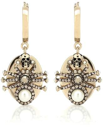 Alexander McQueen Spider crystal-embellished earrings