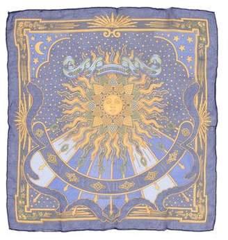 Hermes Carpe Diem Pocket Square