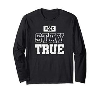 Stay True Straight Edge Crew Ls T-Shirt