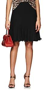 Barneys New York Women's Wool-Silk Knit Godet Skirt-Black