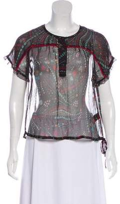 Zadig & Voltaire Silk Printed Top