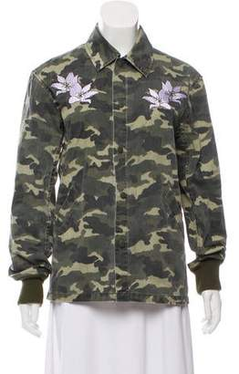 Opening Ceremony Embroidered Camo Jacket