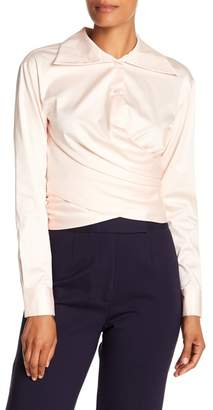 Opening Ceremony Wrap Front Tie Blouse