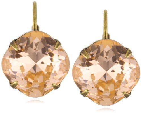 "Sorrelli Tropical"" Large Single Drop Crystal Gold-Tone Earrings"