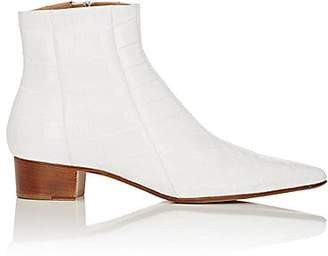 The Row Women's Alligator Ambra Ankle Boots - White