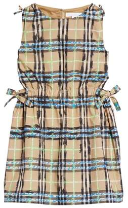 Burberry Candra Scribble Check Dress