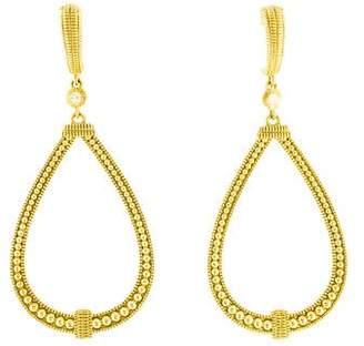 Judith Ripka 18K Diamond Teardrop Earrings