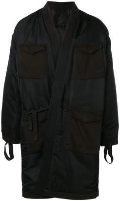 MHI belted midi jacket
