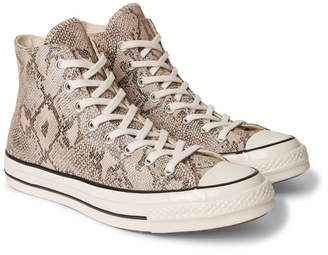 Converse 1970s Chuck Taylor All Star Snake-Effect Suede High-Top Sneakers
