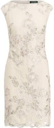 Lauren Ralph Lauren Ralph Lauren Metallic Floral Mesh Dress