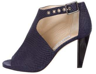 Jimmy Choo Suede Exposed Ankle Boots