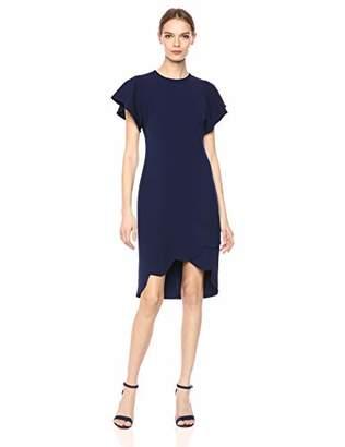 Shoshanna Women's Dade High-Low Stretch Crepe Dress