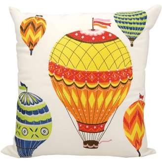 "Nourison Indoor/Outdoor Hot Air Balloons Throw Pillow, Multicolor, 20"" x 20"""