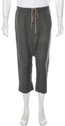 Rick Owens Canapa & Wool Cropped Pants