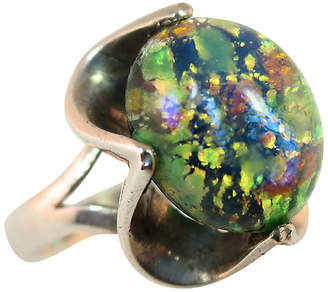 One Kings Lane Vintage 1960s Mexican Sterling Opal Glass Ring - Neil Zevnik