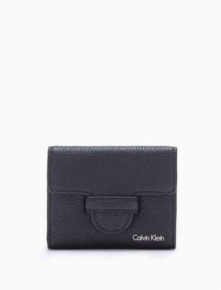 Calvin Klein leather magnetic tab medium trifold wallet