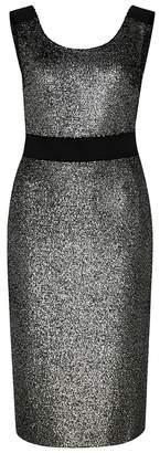 Moschino Gunmetal Sequinned Midi Dress