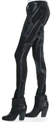 Rag and Bone Black Robot The Legging Jeans