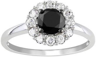 Black Diamond MODERN BRIDE Midnight 1 1/2 CT. T.W. Black & White Diamond Engagement Ring