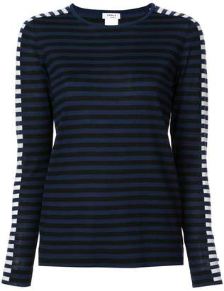 Akris Punto round neck striped jumper