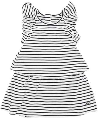 Chloé Stripped Cotton Jersey Dress