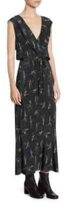 Vince Spring Floral-Print Silk Midi Dress
