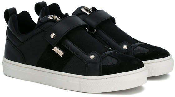 Cesare Paciotti Kids logo strap sneakers