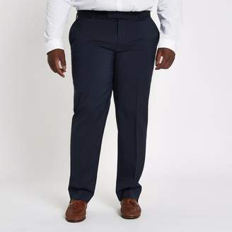 River Island Mens Big and Tall navy slim fit suit trousers