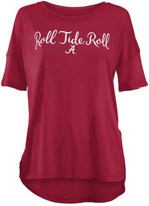 Royce Apparel Inc Women's Alabama Crimson Tide Hip Script Modal Crew T-Shirt