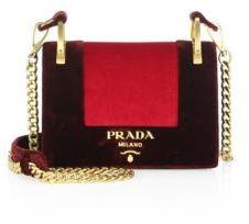 pradaPrada Velvet Chain Shoulder Bag